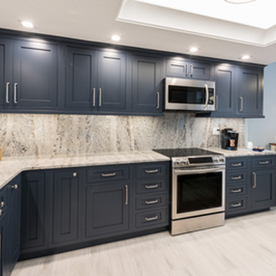 A Bold Navy Blue Kitchen Cape Canaveral Fl
